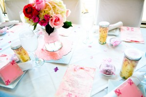 baby shower pink and pram theme